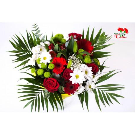 Ramo Rosas, Margaritas, Liliums y Gerberas