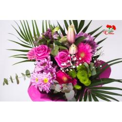 Ramo de Margaritas, Lilium, Gerberas y Rosas