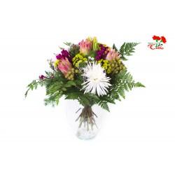 Ramo de Proteas, Verdes Tropicales, Anastasias y Margaritas