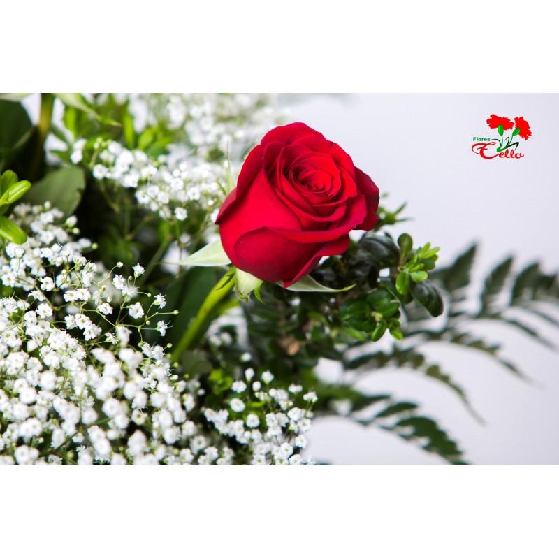 3 Rosas Rojas Calatayud Flores Tello Servicio A Domicilio Y Floristeria